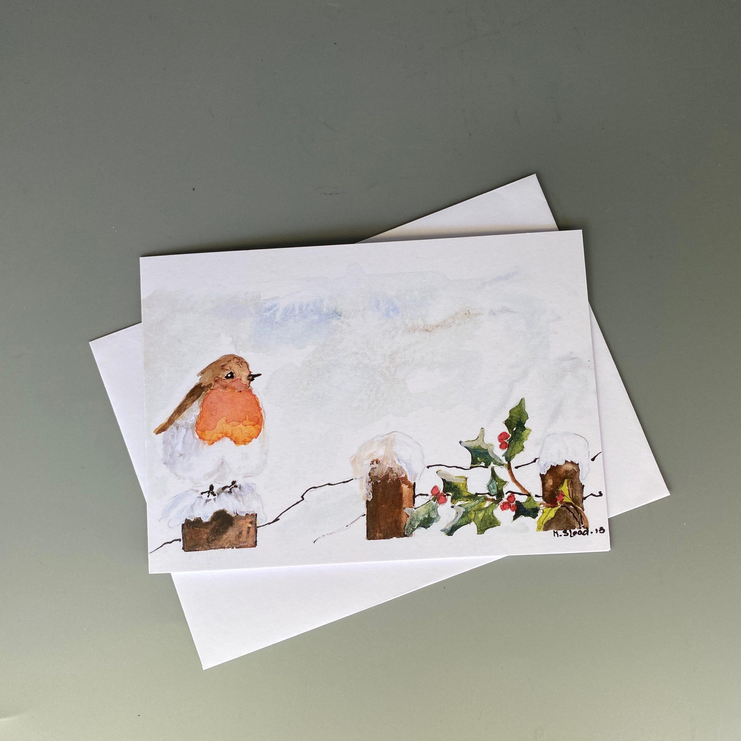 Robin Winter Scene Card