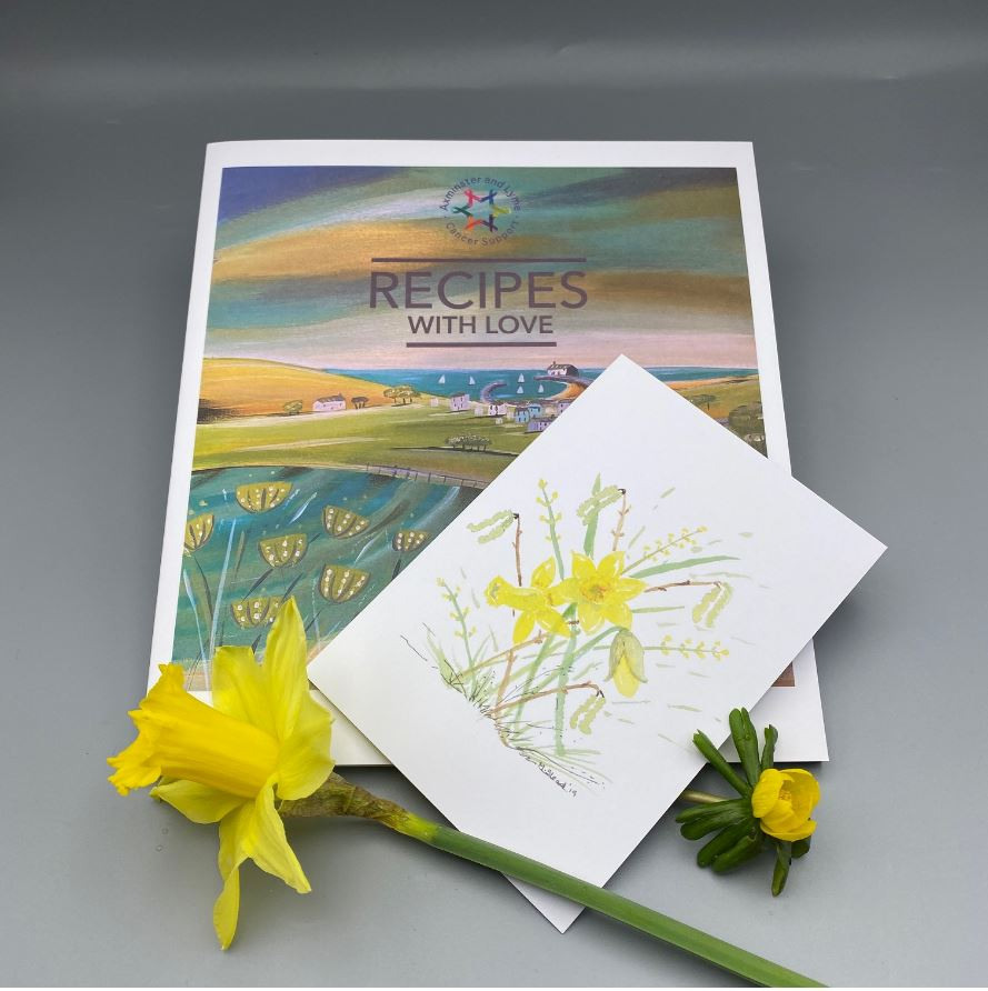 ALCS Mothers Day Offer – Recipes With Love Cook Book & Daffodil Card