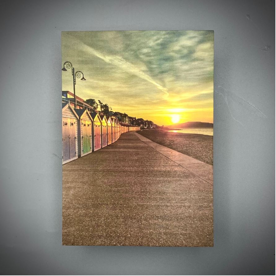 Beach Hut Postcard Sunrise