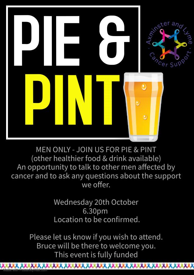Men Only – Pie & Pint 20th October
